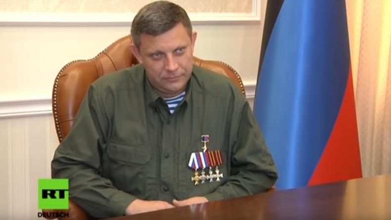 Exklusiv-Interview mit Präsident der Volksrepublik Donezk: OSZE hält Minsker Abkommen nicht ein