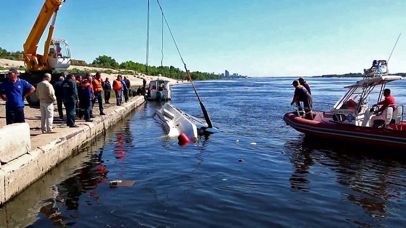 Schiffsunglück auf der Wolga: Lastkahn kollidiert mit Katamaran - elf Tote