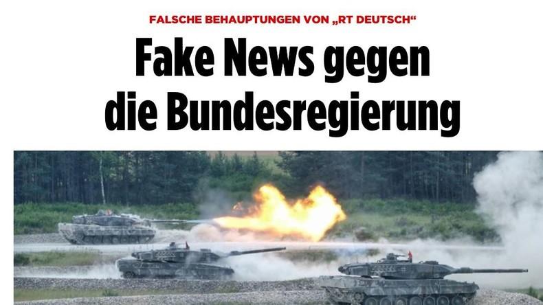 """Dekonstruktion: BILD-Zeitung wirft RT Deutsch """"Fake News gegen die Bundesregierung"""" vor"""