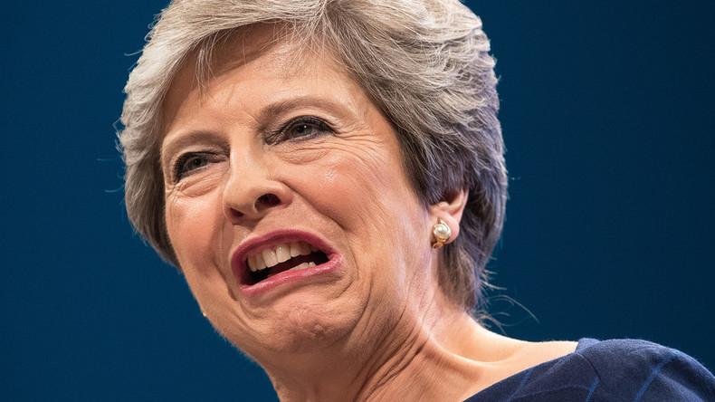Britische Premierministerin May will sich für verstärkte Sanktionen gegen Russland einsetzen