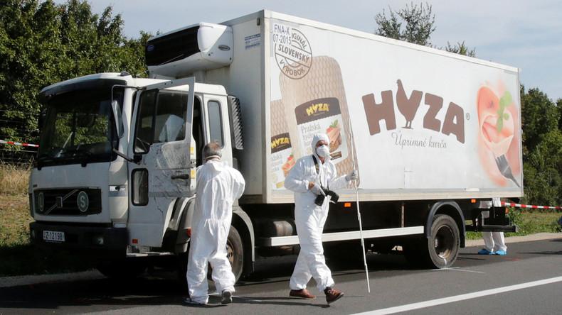 71 Tote im Kühllaster: Fahrer und drei Komplizen zu langen Haftstrafen verurteilt