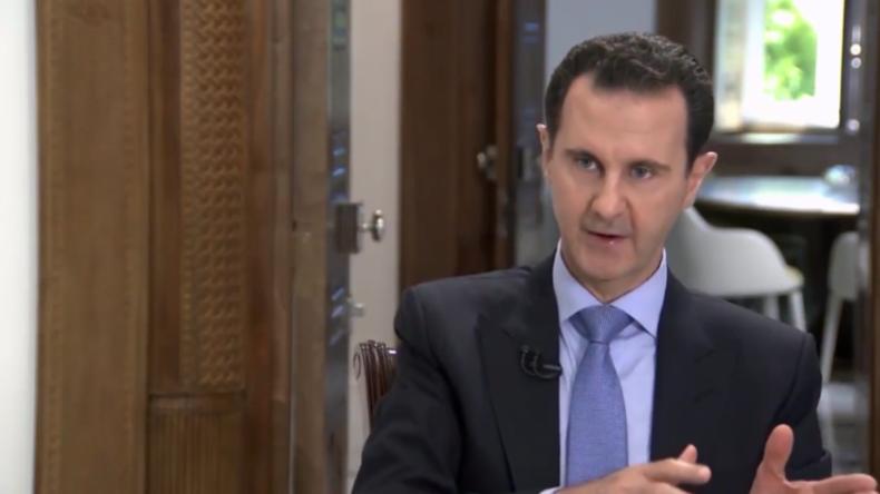 """Assad: """"In Syrien kämpfen zwei Achsen - eine für Terror und Dominanz, die andere für Unabhängigkeit"""""""