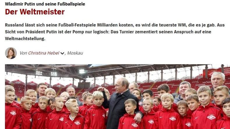 """""""Putins Spiele"""" und die Qualitätsmedien (II) – Testspiel: Was schreibt wohl Spiegel Online?"""