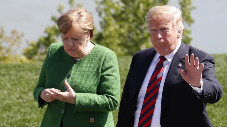 """Donald Trump belegt """"großartiges"""" Verhältnis zu Angela Merkel mit eigener Fotostrecke"""