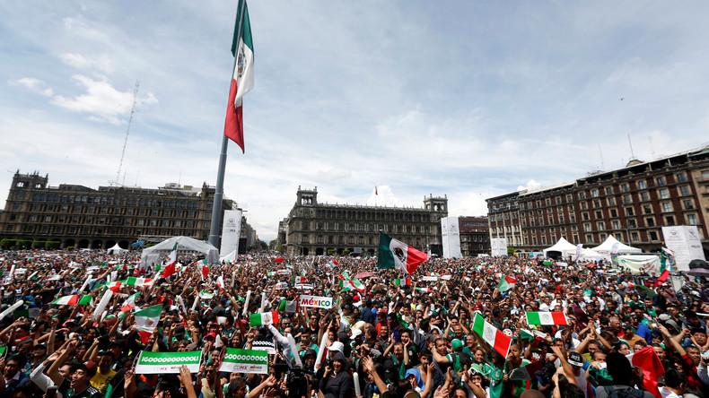 Tosender Jubel: Mexikanische Fans lösen beim 1:0 gegen Deutschland Erdbeben aus