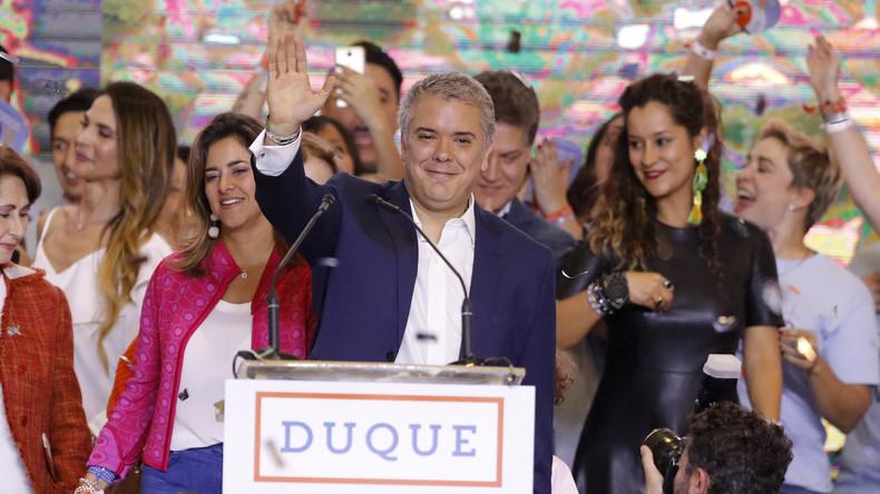 Kolumbien: Rechter Kandidat gewinnt Präsidentschaftswahlen