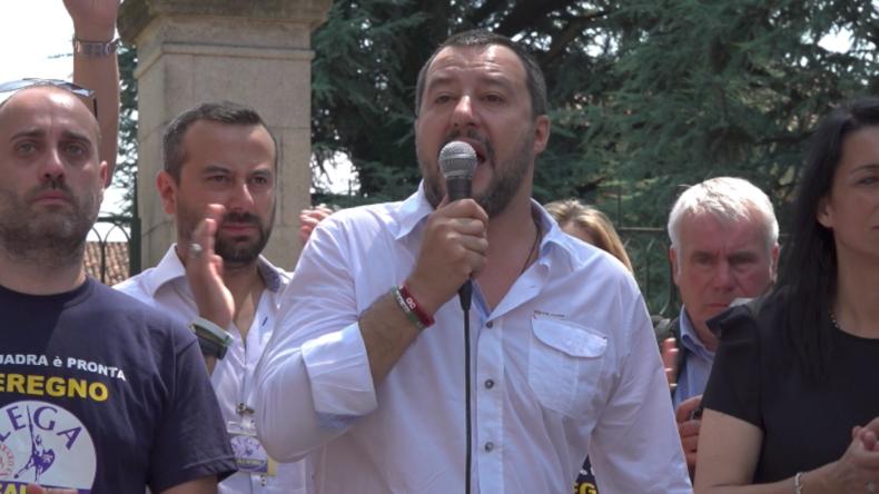 """Italiens Innenminister Salvini: """"Wir werden nicht länger Europas Flüchtlingslager sein"""""""