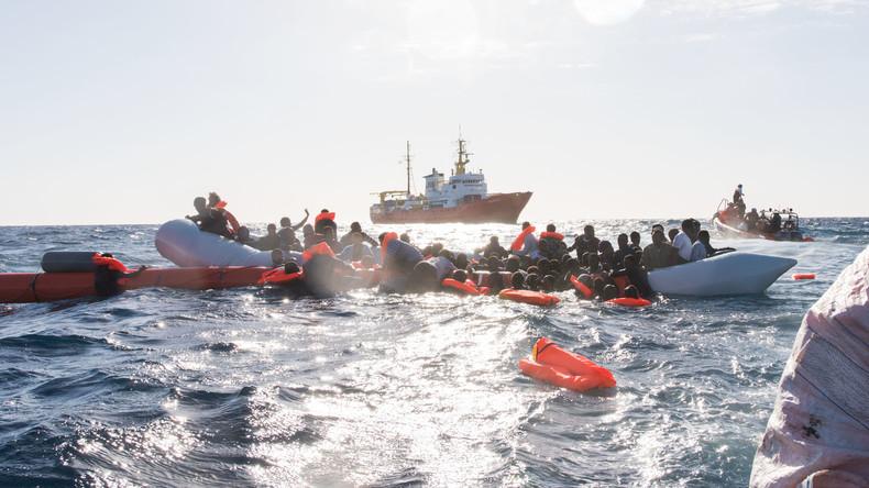 Libysche Küstenwache rettet 191 Flüchtlinge im Mittelmeer aus Seenot