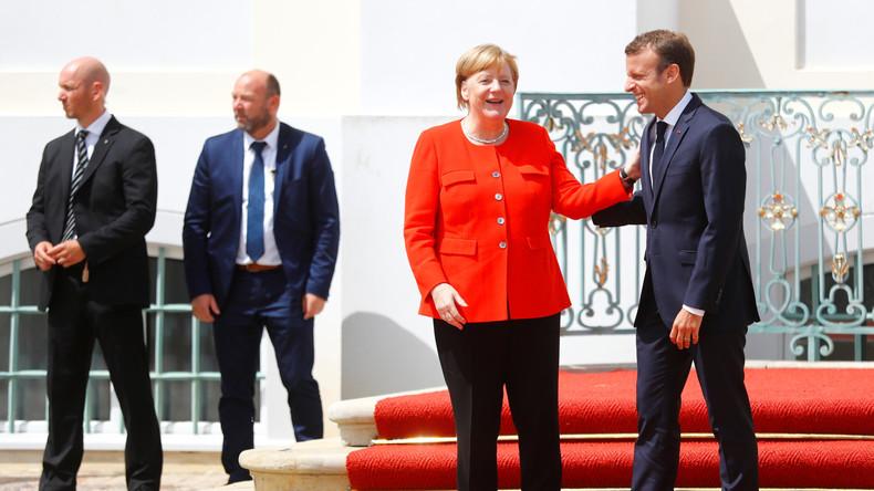Video: Merkel und Macron halten gemeinsame Pressekonferenz