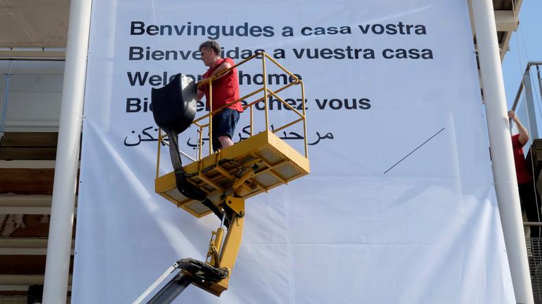 Alicante: Straßenumfrage zur Einquartierung von Flüchtlingen in Studentenwohnheim
