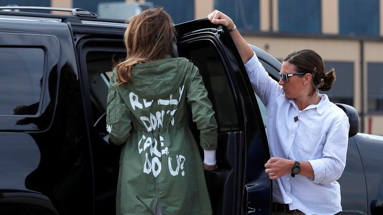 """""""Mir ist es wirklich egal. Und Dir?"""": Schriftzug auf Melania Trumps Jacke löst Diskussionen aus"""