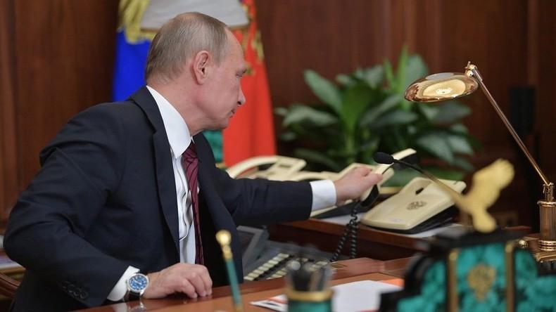 Telefonat: Putin und Poroschenko besprechen Donbass-Vereinbarung und Gefangenenaustausch