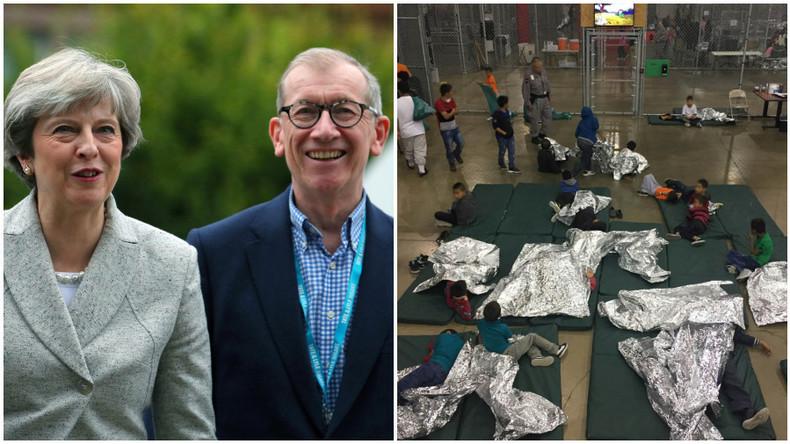 Theresa Mays Ehemann verdient an Käfigkindern in den USA