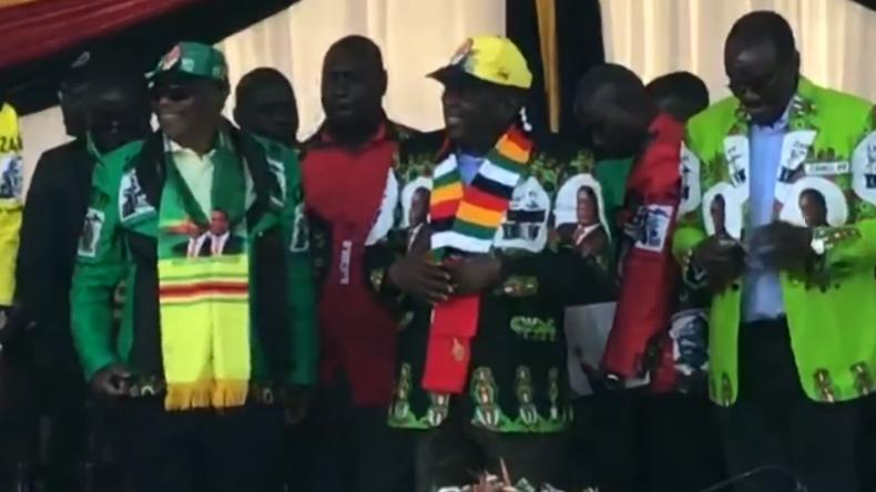 Video zeigt missglückten Mordanschlag auf Simbabwes Präsidenten Mnangagwa