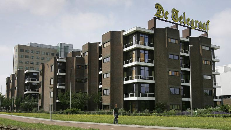 "Amsterdam: Auto rammt Gebäude von Boulevardblatt ""De Telegraaf"""