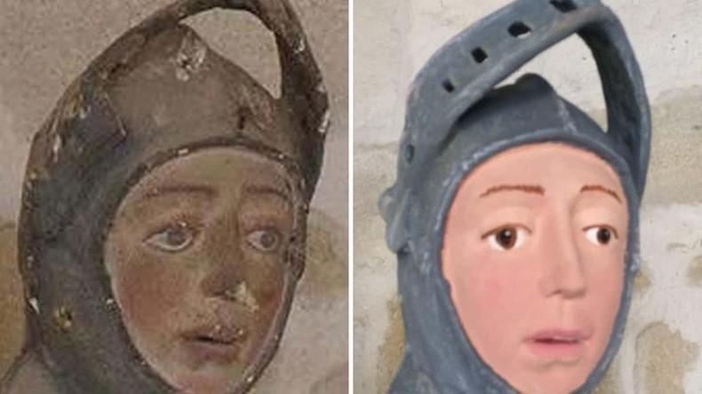 """""""Desaströse"""" Restaurierung lässt 500 Jahre alte Heiligenskulptur wie Walt-Disney-Figur aussehen"""
