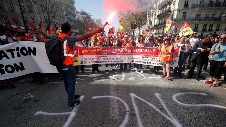 LIVE: Proteste in Paris gegen Macrons Arbeitsmarktreform