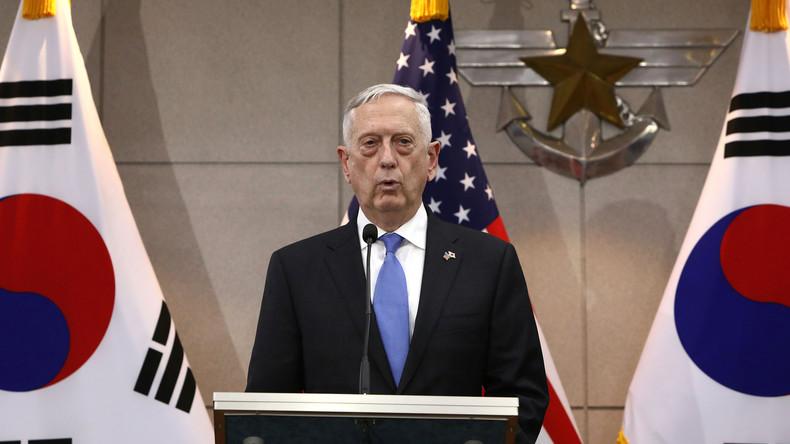 Mattis widerspricht Trump: 32.000 US-Soldaten bleiben in Südkorea