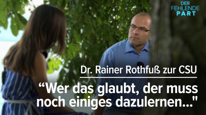 Warum die CSU für Friedensaktivist Dr. Rainer Rothfuß keine Alternative mehr ist