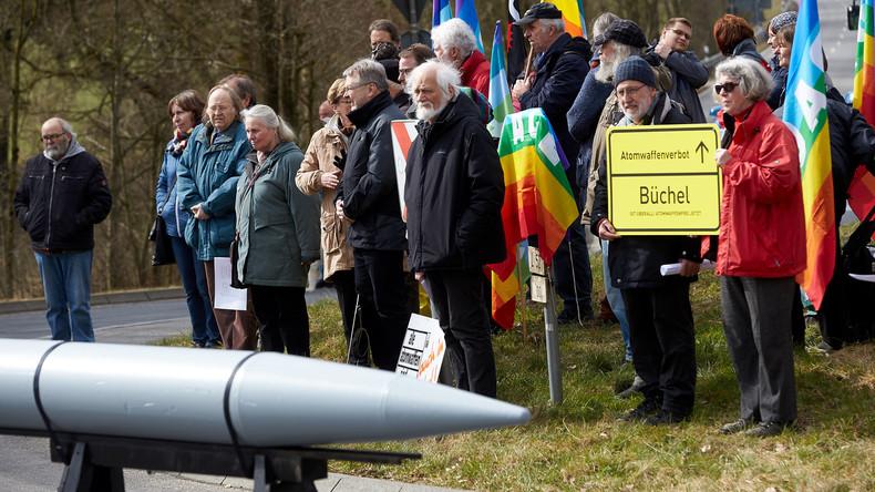 Video: Proteste gegen US-Atombomben im Fliegerhorst Büchel
