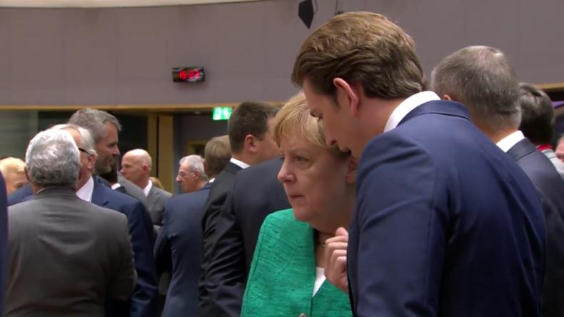 Auf der Suche nach EU-Lösung in der Migrationskrise: Orban, Kurz, Merkel und Macron äußern sich