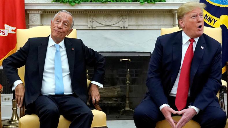 Kampf der Alphatiere: Portugiesischer Präsident bringt Trump mit Händedruck fast aus Gleichgewicht