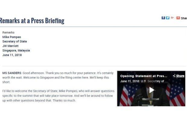Peinlicher Lapsus: Fürs US-Außenministerium gehört Singapur noch zu Malaysia