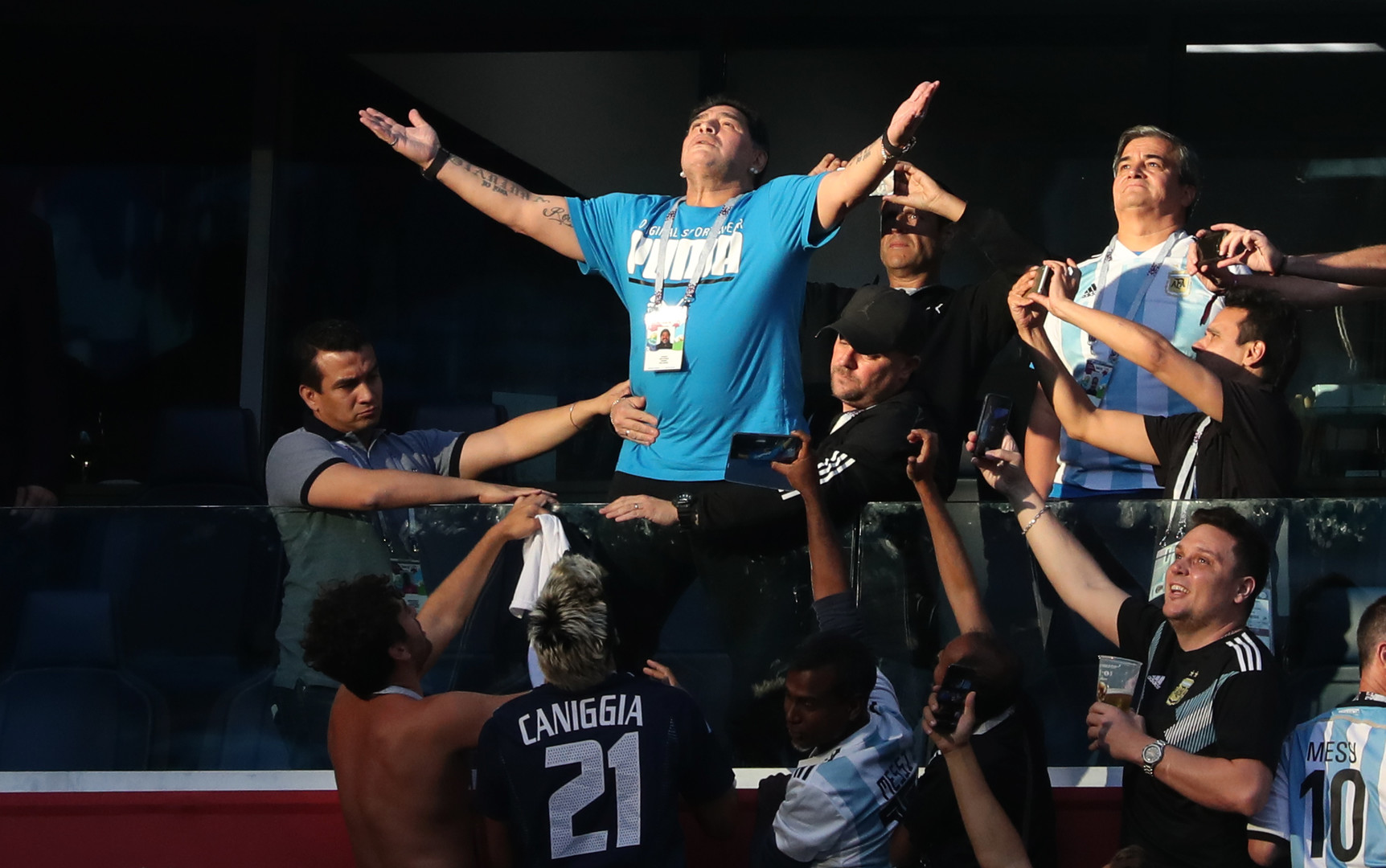 Spiel gegen Nigeria: Argentiniens Sieg Minuten vor Schluss und Maradona-Show auf der Tribüne