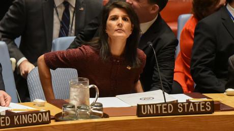 Die US-Botschafterin bei den Vereinten Nationen, Nikki Haley.
