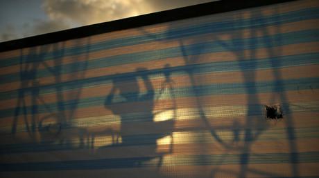 Symbolbild: Der Schatten eines palästinensischen Jungen in Gaza, 16. Juni 2013.