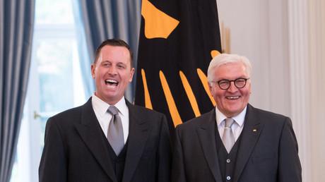 Grenell und Steinmeier im Schloss Bellevue, 8. Mai 2018