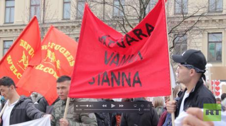 Demonstration in Stockholm, 6. Mai 2018.