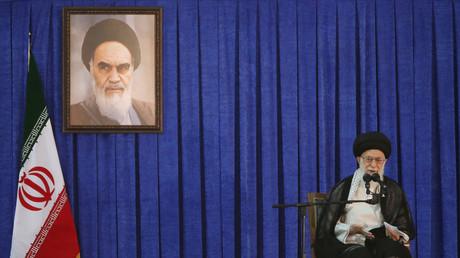 Staatsoberhaupt Ajatollah Ali Chamenei anlässlich des Todestages von Ajatollah Ruhollah Chomeini in Teheran, 4. Juni 2017.