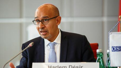 Harlem Désir, OSZE Repräsentant für Pressefreiheit, auf der Internet Freedom Conference Wien, 13. Oktober 2017