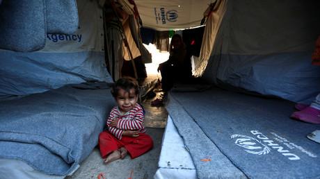 Flüchtlingskind auf Chios, Griechenland, 10. Juni 2017.