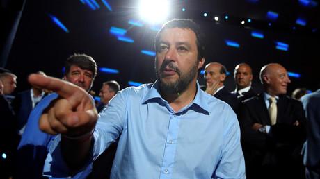 Innenminister Matteo Salvini beim Treffen des italienischen Wirtschaftsverbandes Confcommercio am 7. Juni 2018 in Rom.