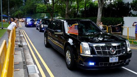 Nukleare Abrüstung beiseite – reden wir über Autos: Trump zeigt Kim seine Limousine (Archivbild)