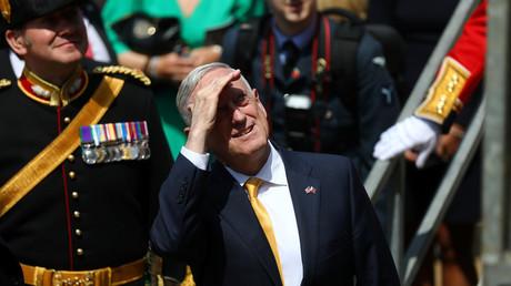 US-Verteidigungsminister James Mattis bei einer Flugvorführung der Royal Air Force in London, 9. Juni 2018.
