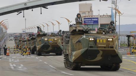 Noch im April hielten die Marine der USA und Südkorea ein gemeinsames Manöver ab. Damit soll nach dem Willen des US-Präsidenten vorerst Schluss sein.
