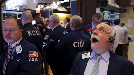 Not amused... Börsenhändler in New York City