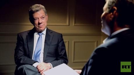 Kolumbiens Präsident Santos zu RT: