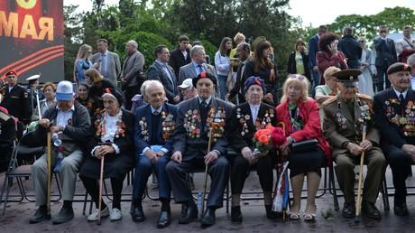 Veteranen am 9. Mai 2018 anlässlich des Jahrestages des