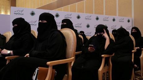 Abschlussfeier der saudischen Autounfall-Inspektorinnen, einige Tage nach der Aufhebung des Fahrverbots für Frauen in Saudi-Arabien, Riad, 21. Juni 2018.