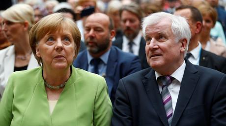 Angela Merkel und Horst Seehofer, Berlin, Deutschland, 20. Juni 2018.