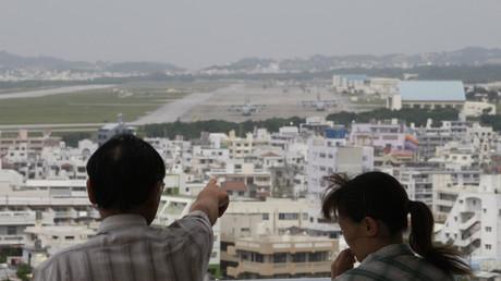 Ausblick auf den US-Stützpunkt von Futenma in Ginowan auf Okinawa, Japan, 3. Mai 2010.