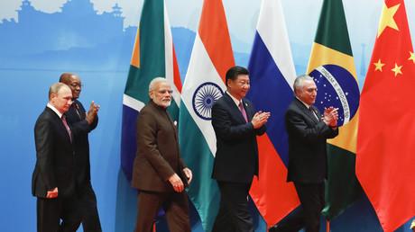 Die Staatsoberhäupter der BRICS-Staaten bei einem BRICS-Gipfel im chinesischen  Xiamen im September 2017
