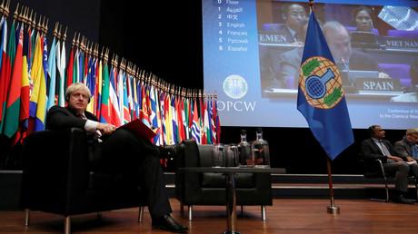 Auf der OPCW-Sondertagung in Den Haag forderte der britische Außenminister Boris Johnson eines Ausweitung des Mandats der Organisation.