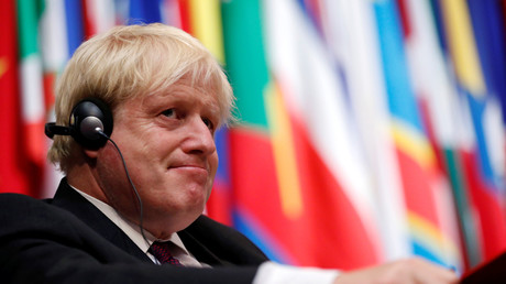 Der britische Außenminister Boris Johnson auf der OPCW-Sondertagung in Den Haag