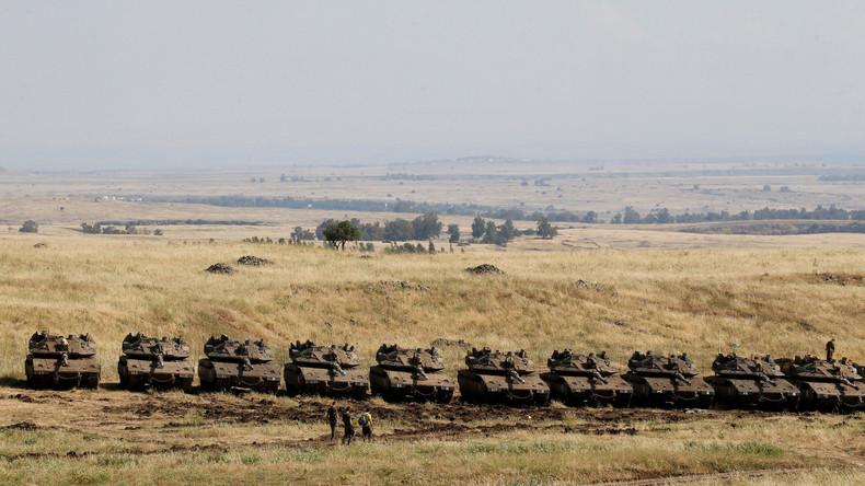 Israels Armee verstärkt Panzer- und Artillerie-Gruppierung auf Golanhöhen