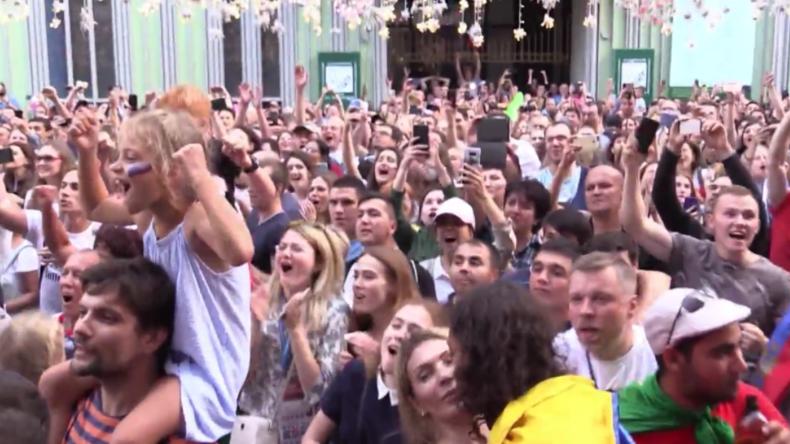 """Hurra! - Russland erlebt sein """"Sommermärchen"""" und zieht ins WM-Viertelfinale ein"""